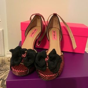 Betsey Johnson Red Polka Dot Heels